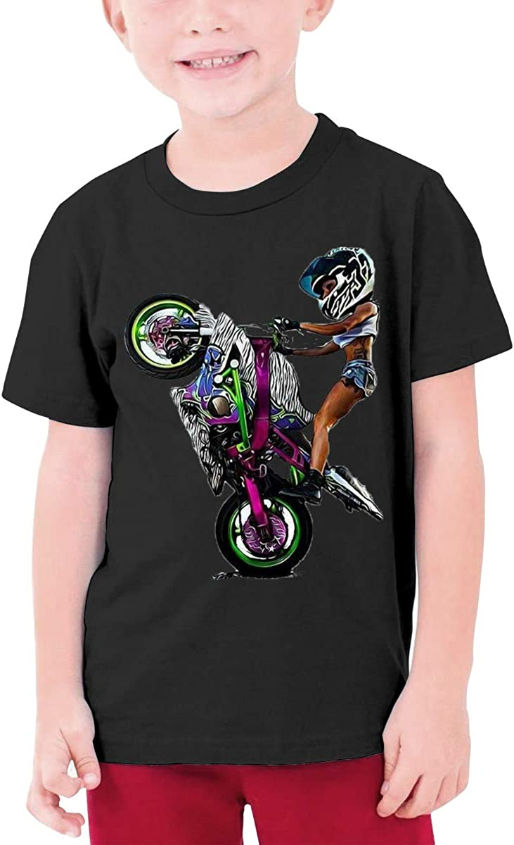 QIMING SHIPPING Beautiful Woman and Motorcycle Teenage T-Shirt,Boys T-Shirts,Girls T-Shirts S-XL