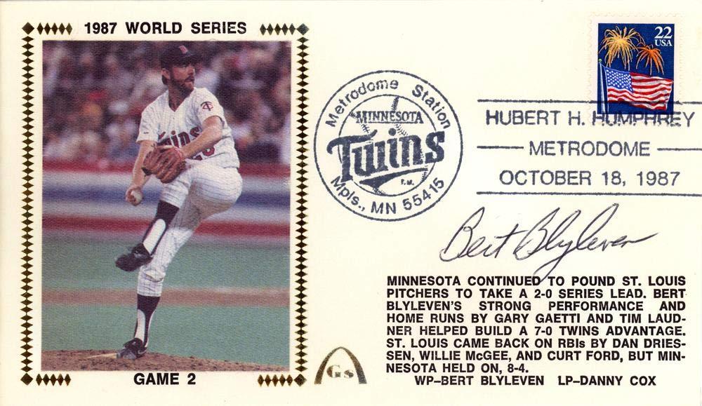 Bert Blyleven Autographed First Day Cover Minnesota Twins Beckett BAS #E48775 - Beckett Authentication Mill Creek Sports