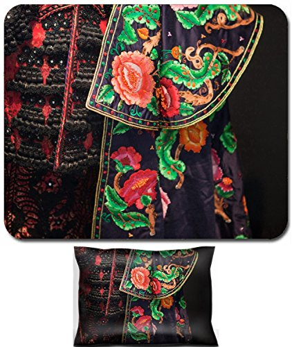 Liili Mouse Wrist Rest and Small Mousepad Set, 2pc Wrist Support Detail of a traje de luces the costum of a torero Spain 29493579]()