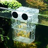 SENZEAL Sala parto il di pesci plastica Scatola incubatrice per allevamento multifunzionale con 3 pezzi pipetta Pasteur(105x75x135mm)