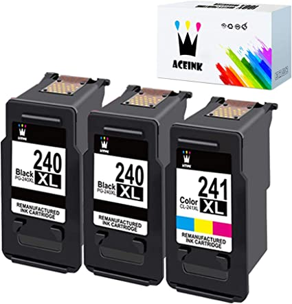 3 Pack PG-240xl Black Ink Cartridge for Canon PIXMA MG2220 MG3220 MX372 MX452