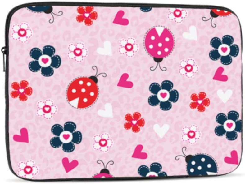 Designed to Fit Any Laptop//Notebook//ultrabook//MacBook with Display Size 11.6 Inches Cute Ladybird Pattern Pattern Neoprene Sleeve Pouch Case Bag for 11.6 Inch Laptop Computer