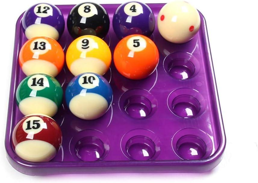 WXS 7 Colores El plastico Billar/Billar/Bola Americana 8 Bandeja Sostiene 16 Bolas (Color : Purple): Amazon.es: Deportes y aire libre