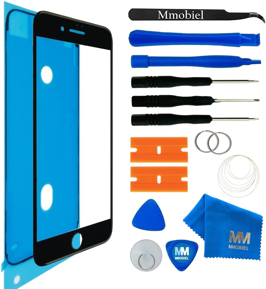 MMOBIEL Front Glass Replacement Compatible with iPhone SE/iPhone 8(Space Grey/Black) Display Touchscreen incl Tool Kit