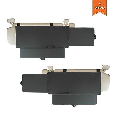 WANPOOL Car Visor Sunshade, Car Visor Anti-Glare Sunshade Extender for Front Seat Driver and Passenger - 2 Pieces (Black): Automotive