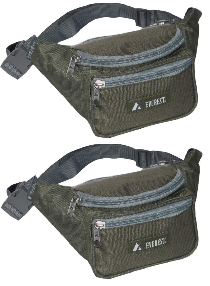 Olive Celery Street Everest Signature Waist Fanny Pack for Walking or Hiking Set of 2
