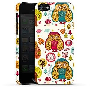 Carcasa Design Funda para Apple iPhone 5 PremiumCase white - Crazy Woods