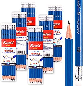 School Office. Excellent Writing /& Drawing Quality 72 Hb Pencils in Stand