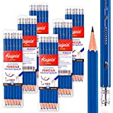 KUGELZ Writing Pencils 72/Set | Super #2 HB Premium Quality Blue Wooden Pencil w/ Dust-free Eraser – 100% Non-Toxic and Durable – Best for Students, Kids, Teachers – Bulk Pack of 72 Sharpened Pcs