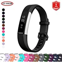 FunBand for Fitbit Alta HR and Alta Strap Bands,Classic Soft Silicone Sport Adjustable Replacement Accessory Bracelet Bands (Small or Large Size) for Fitbit Alta (2016) and Fitbit Alta HR (2017) Fitness Wristband (1-Pack Black)