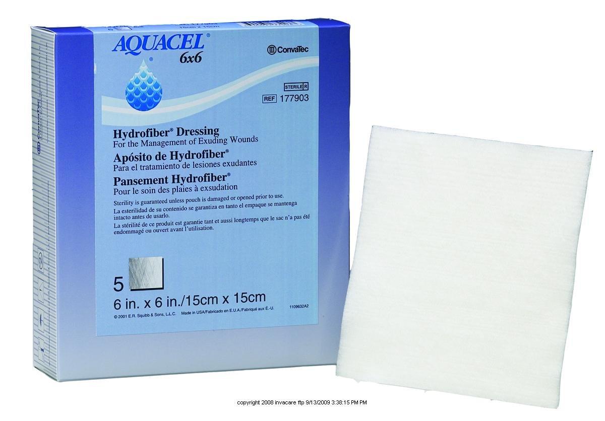 AQUACEL Hydrofiber Wound Dressing, Aquacel Drs Cmpsit 4X4 in, (1 BOX, 10 EACH)