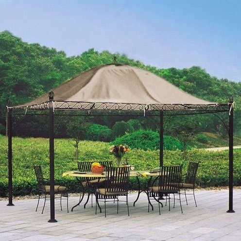 Garden Winds Global Bazaar Pavilion Gazebo Replacement Canopy Top Cover
