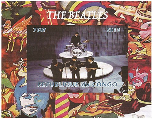 (The Beatles on stage imperforate miniature stamp sheet - 2013 / 750F /)