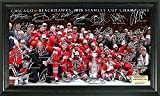 The Highland Mint NHL Chicago Blackhawks 2015 Stanley Cup Champions Signature Rink, 22'' x 15'' x 4'', Black