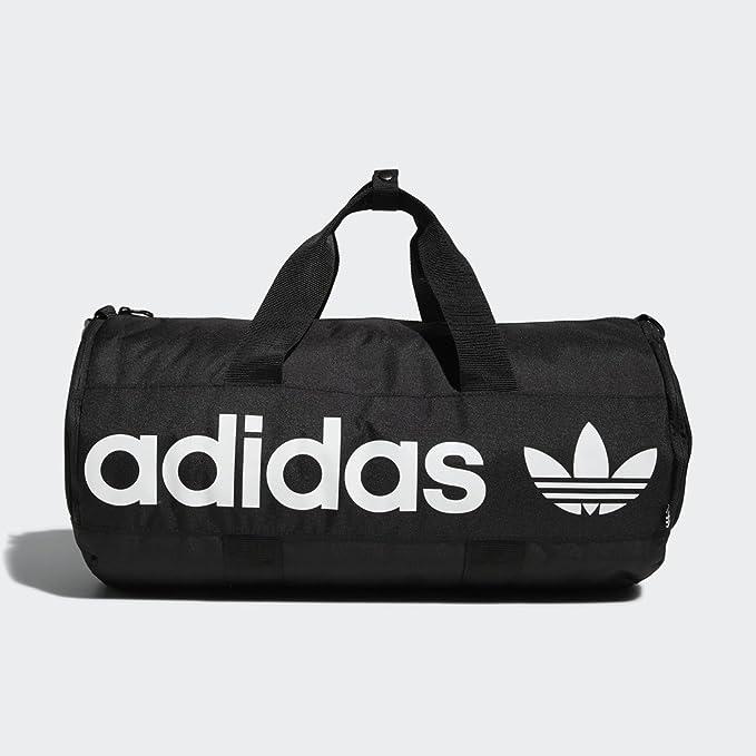 61779cb4a10 Amazon.com: adidas Originals Paneled Roll Duffel Bag, Black, One ...