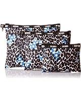LeSportsac 3 Piece Travel Set Handbag Pouch