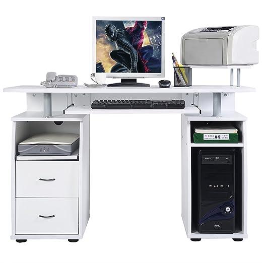 FDS Ordenador de Escritorio con Monitor y Estante de la Impresora ...