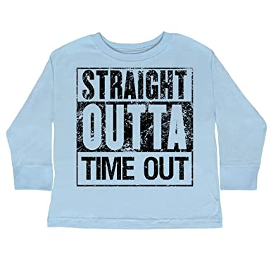 035b11692 Amazon.com: inktastic - Straight Outta Time Out Toddler Long Sleeve T-Shirt  2b217: Clothing