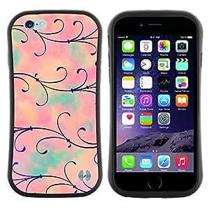 "Pulsar iFace Series Tpu silicona Carcasa Funda Case para Apple (4.7 inches!!!) iPhone 6 Plus / 6S Plus ( 5.5 ) , Flor rosada floral del trullo"""