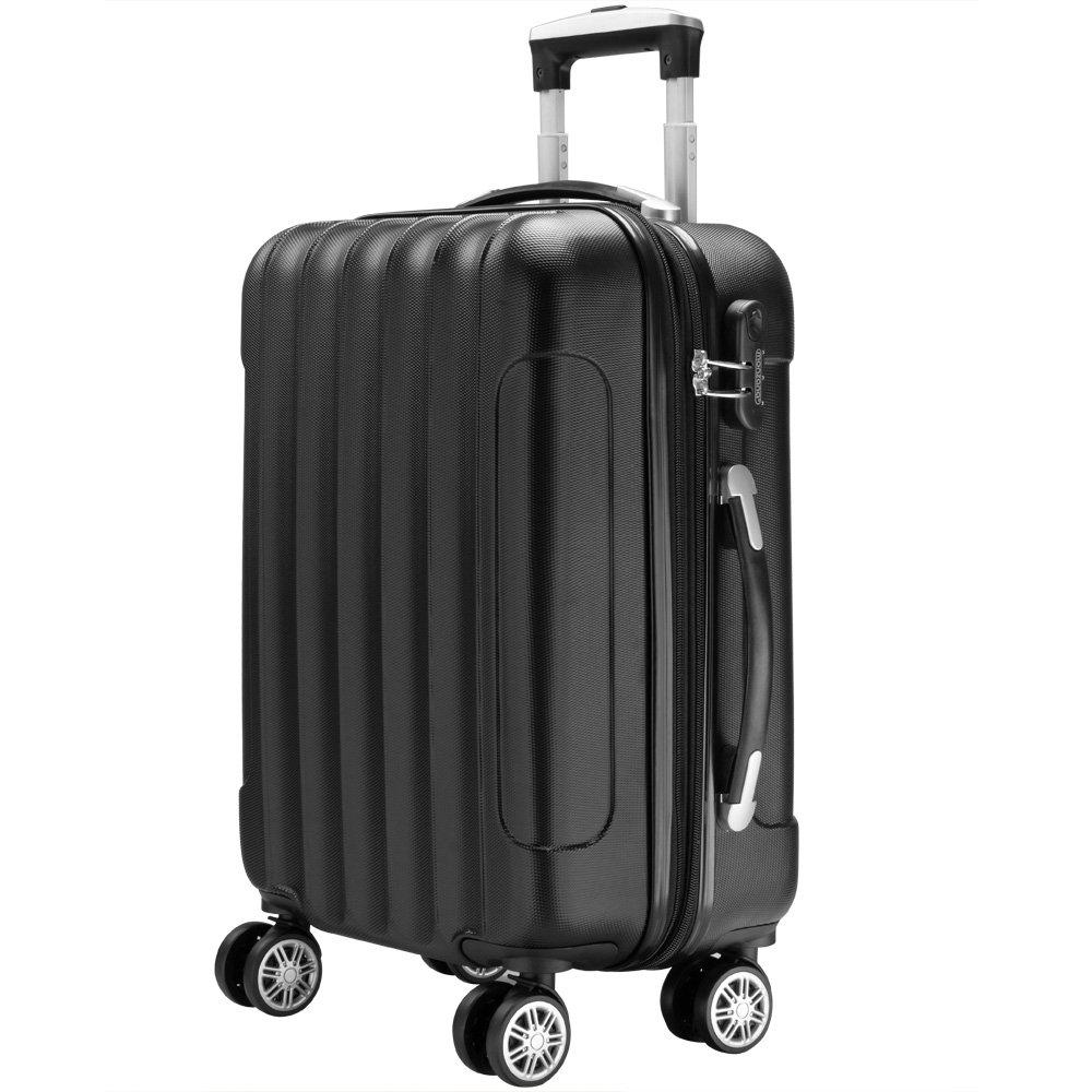 Valise rigide Argent Taille L - Bagage cadenas Malle voyage vacances Transport
