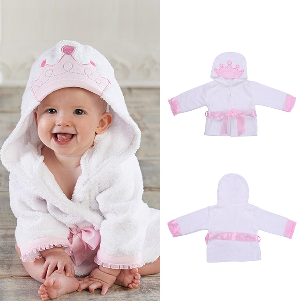 LianLe Baby Cotton Towel Baby's Bathrobe Soft and Comfortable Hooded Bathing Towels Clothes (I)