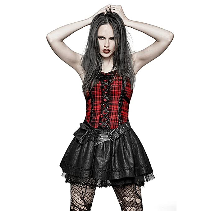 uk availability 5a1bf dc09a Punk Rave Vestito Estivo Adorabile da Donna Cinghie ...