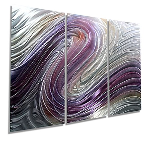 Radiant Fusion of Purple, Silver & Pecan Jewel Tone Modern