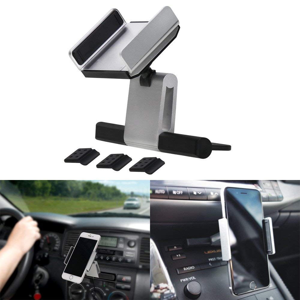 6 5 Phone Holder Universal Car Phone Holder,CD Slot Car Phone Mount Compatible w//Universal iPhone X,SE 5S Note Edge Misayaee 4351540193 7 Plus,8 S7 Car Mount 7 S8,S9,Note 4 6S 8 Plus//Galaxy S5 S6 S7 Edge