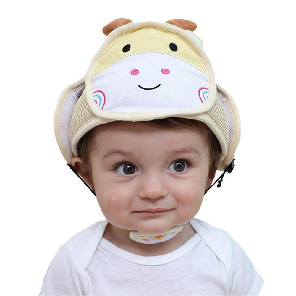 Casco de seguridad para bebé, casco de seguridad antigolpes, de algodón, protección para bebés, gorro de seguridad para niños y senderismo amarillo amarillo soundwinds