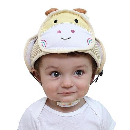 Casco de seguridad para bebé, casco de seguridad antigolpes, de algodón, protección para