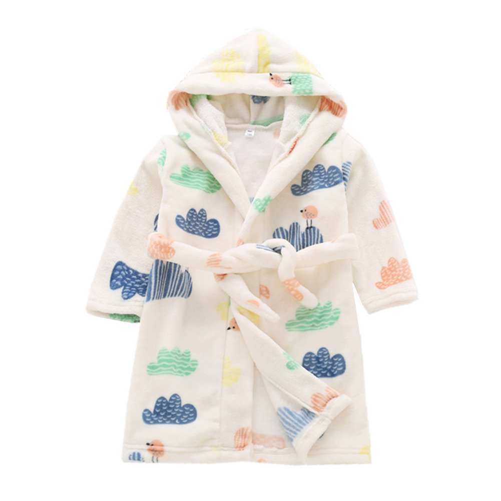 Kimjun Kid Bathrobes for Girls Boys Robes Toddler Baby Soft Cotton Bathrobe Sleepwear 1-7t ETYP-12