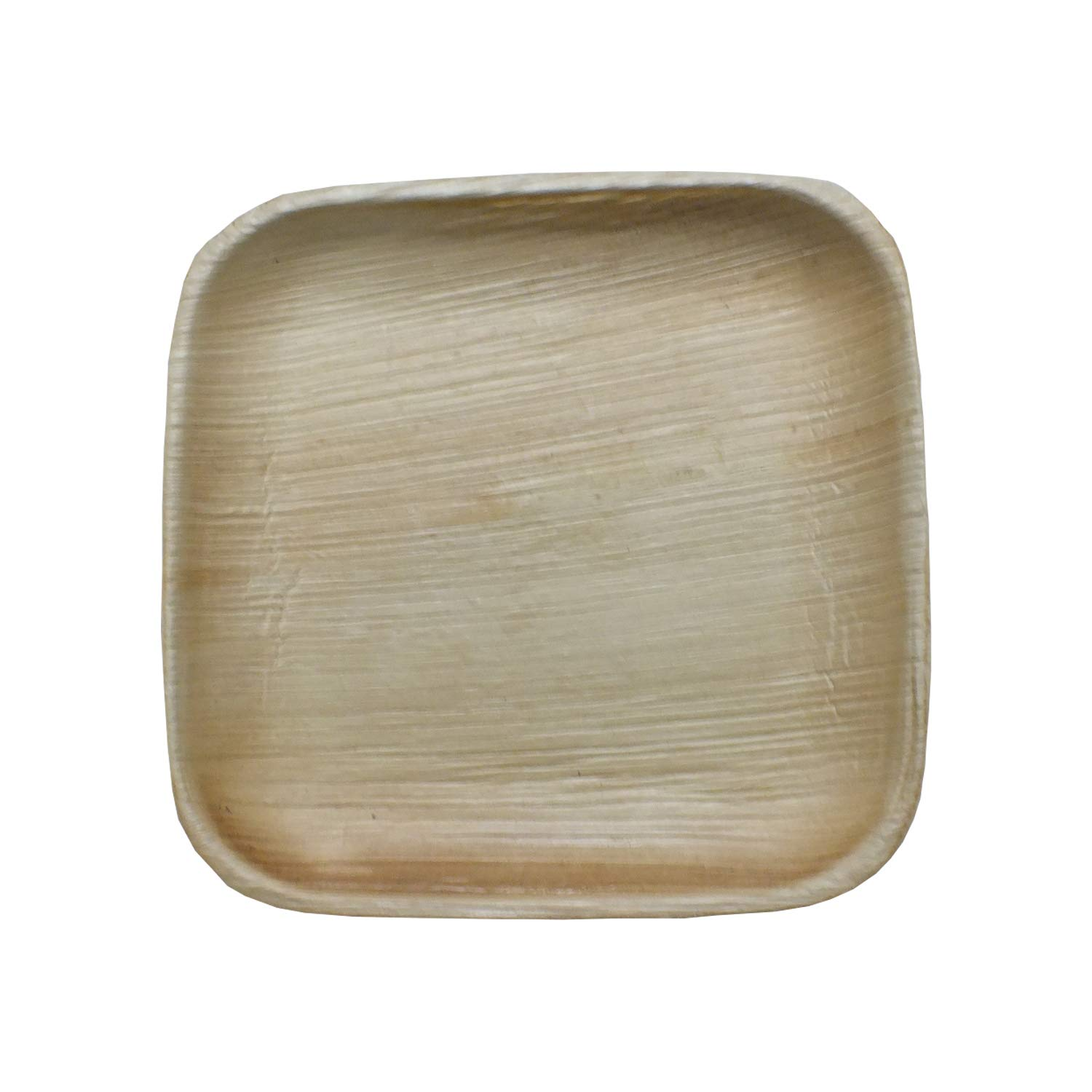 Premium Biodegradable Natural Areca Palm Leaf 6.5 Inch Square Plate, Eco-Friendly and Disposable Suitable for Home and Catering, Pack of 100