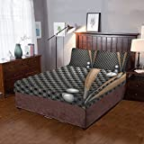 AnnHomeArt Baseball and metal wall 3 Pieces Bedding Set includes 1 Quilt Cover and 2 Pillowcases