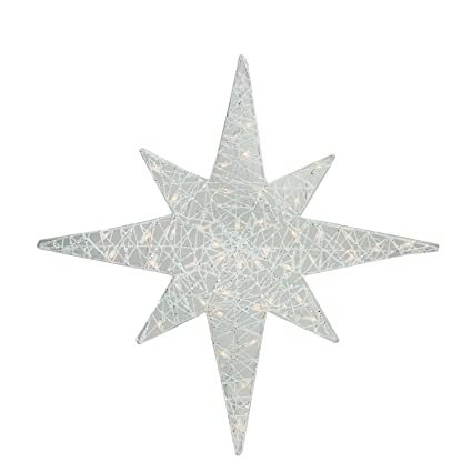 Amazon brite star 36 lighted white glitter star of bethlehem brite star 36quot lighted white glitter star of bethlehem christmas yard art decoration mozeypictures Image collections