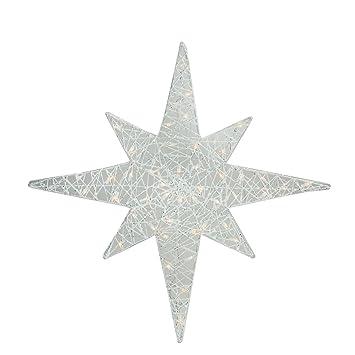 Amazon 36 lighted white glitter star of bethlehem christmas 36quot lighted white glitter star of bethlehem christmas yard art decoration mozeypictures Choice Image