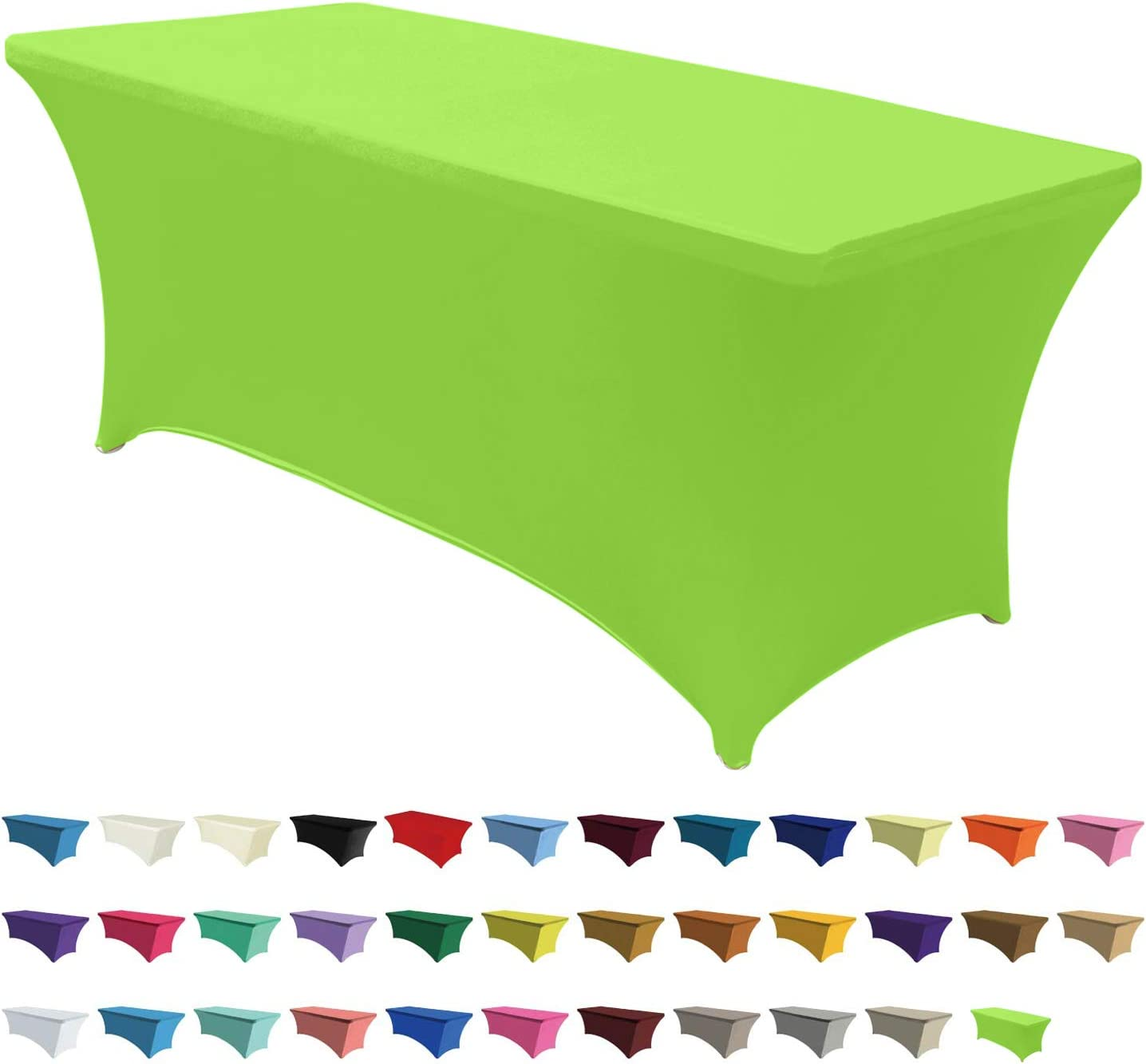 ABCCANOPY Spandex Tablecloths for 4 ft Home Rectangular Table Fitted Stretch Table Cover Polyester Tablecover Table Toppers