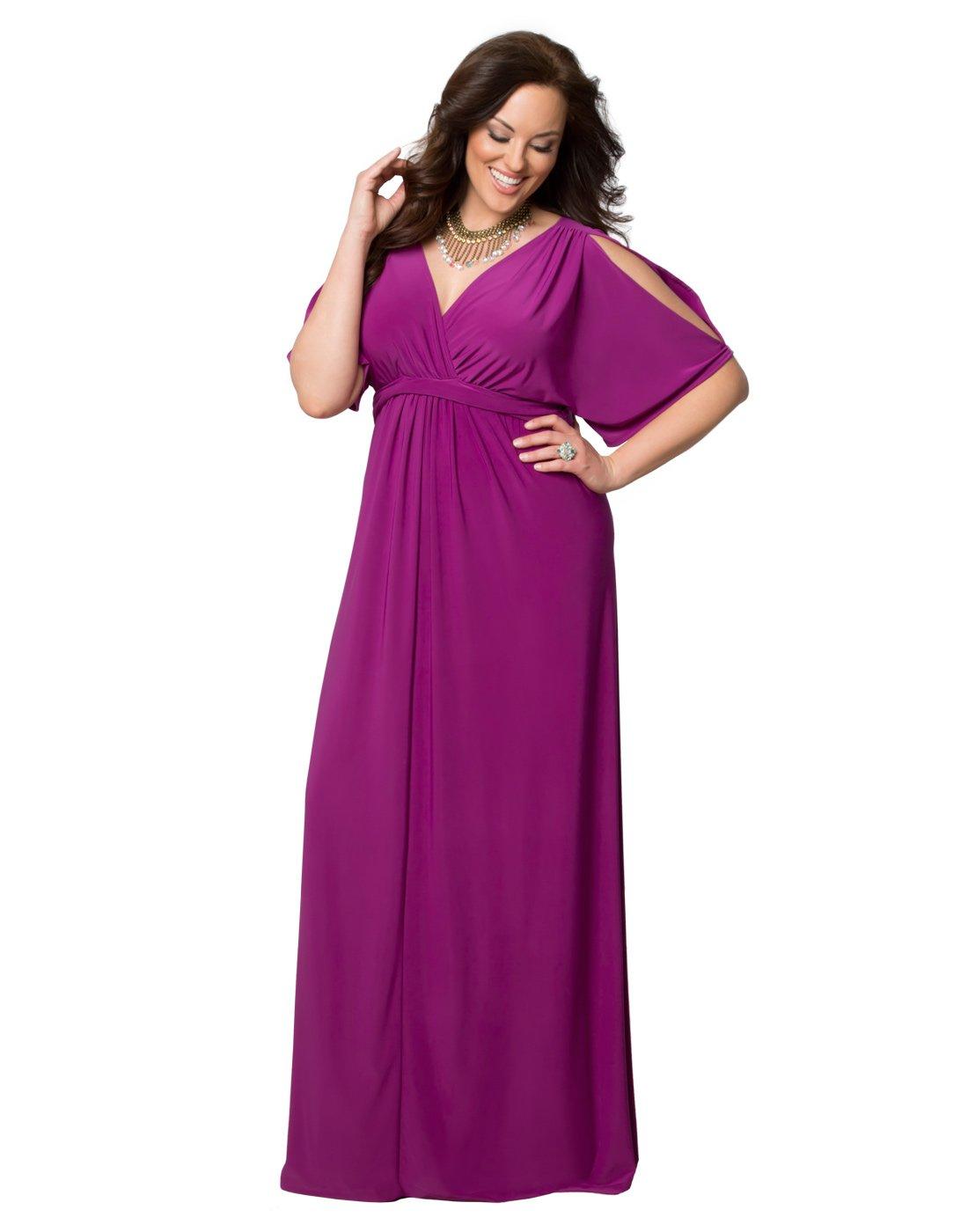 Kiyonna Women's Plus Size Coastal Cold Shoulder Dress 2X Orchid