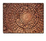 Luxlady Placemat The Sculpture of thai style decorative on the wall IMAGE 37704294 Customized Art Home Kitchen