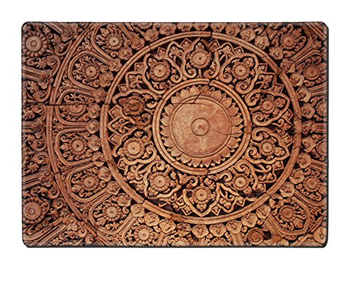 Luxlady Placemat The Sculpture of thai style decorative on the wall IMAGE 37704294 Customized Art Home Kitchen by Luxlady