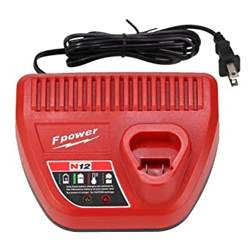 Amazon.com: Fhybat - Cargador M12 para Milwaukee 10,8 V-12 V ...