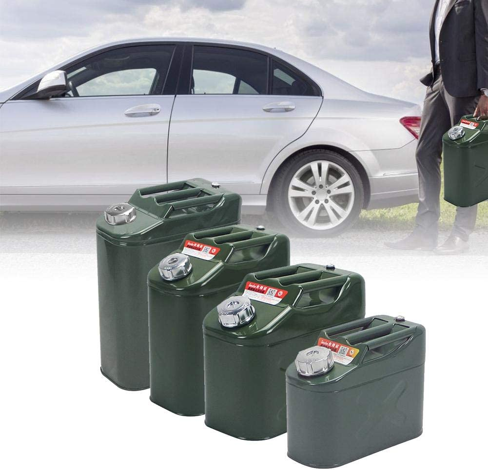 Euopat Gasoline Container,Portable Thickened Iron Gasoline Barrel With Flexible Oil Guide Tube Leak Prevention Oil Water Bucket Petrol Diesel Storage Can For Car Motorcycle