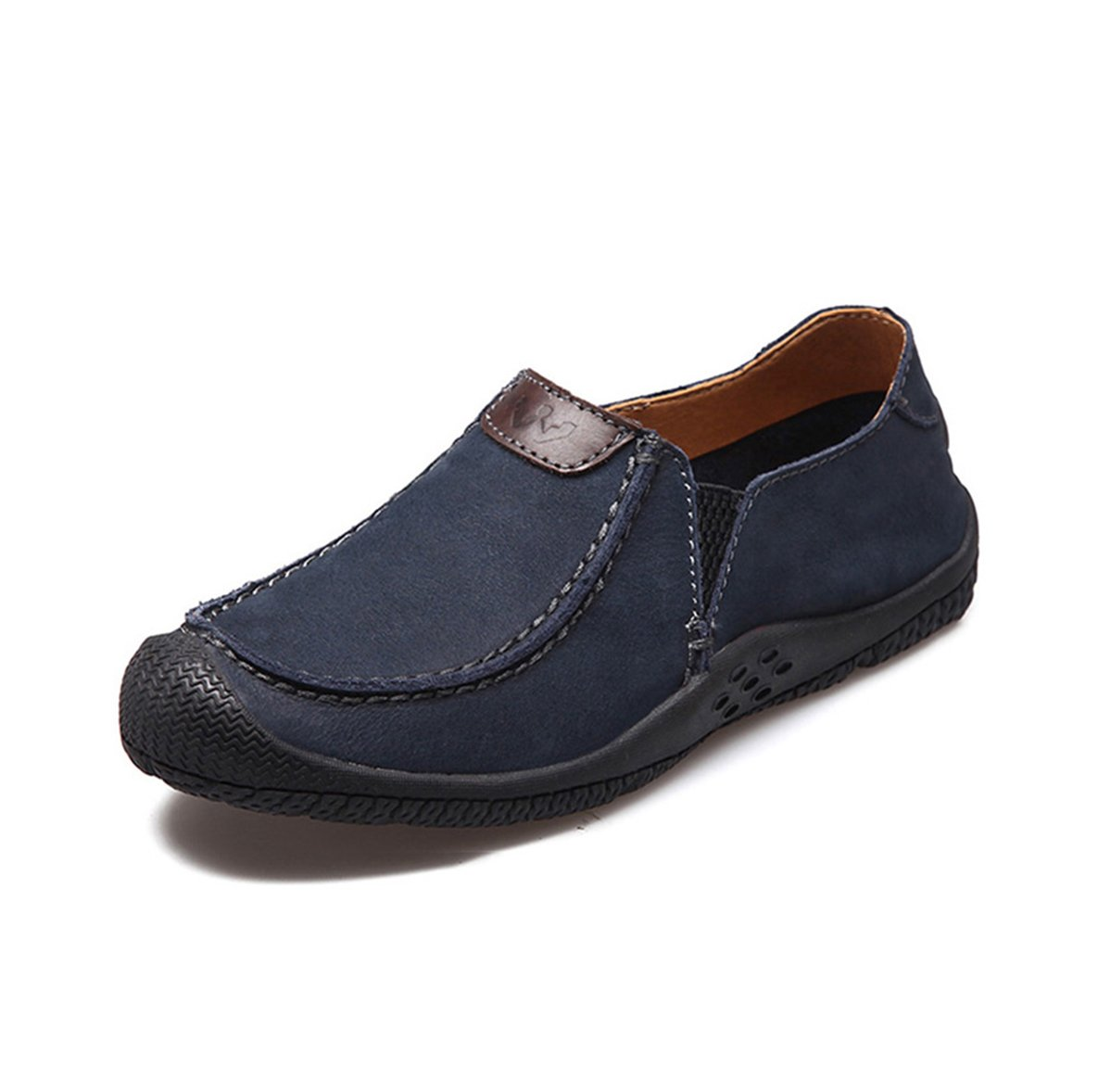 Humg Feng Men Shoes- Casual Leather Loafer Slip on- For Autumn and Winter 8.5