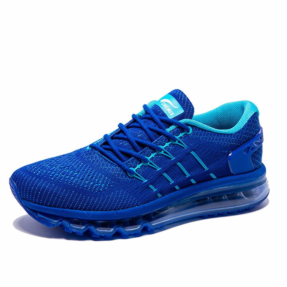 ONEMIX Womens Air Running Shoes,Sloping Tongue Design, Royal Blue, Womens 11(M)/Mens 9.5(M)US 43EU