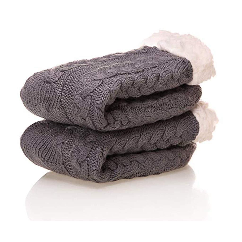 iLXHD Grippers Slipper Socks Womens Winter Super Soft Warm Cozy Fuzzy Fleece-lined Gift