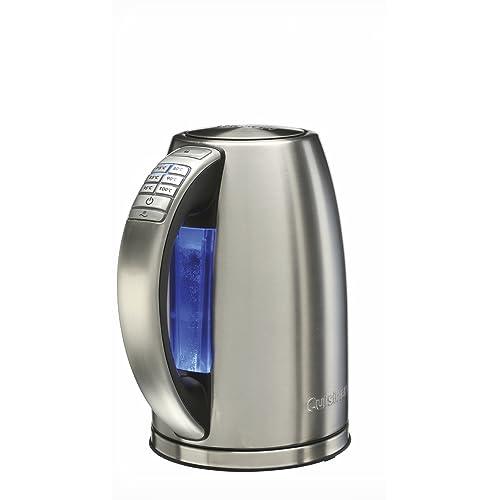 Cuisinart CPK18E Bouilloire acier brossé, 6 températures préréglées, Maintien au chaud, 1,7 L - 2750W