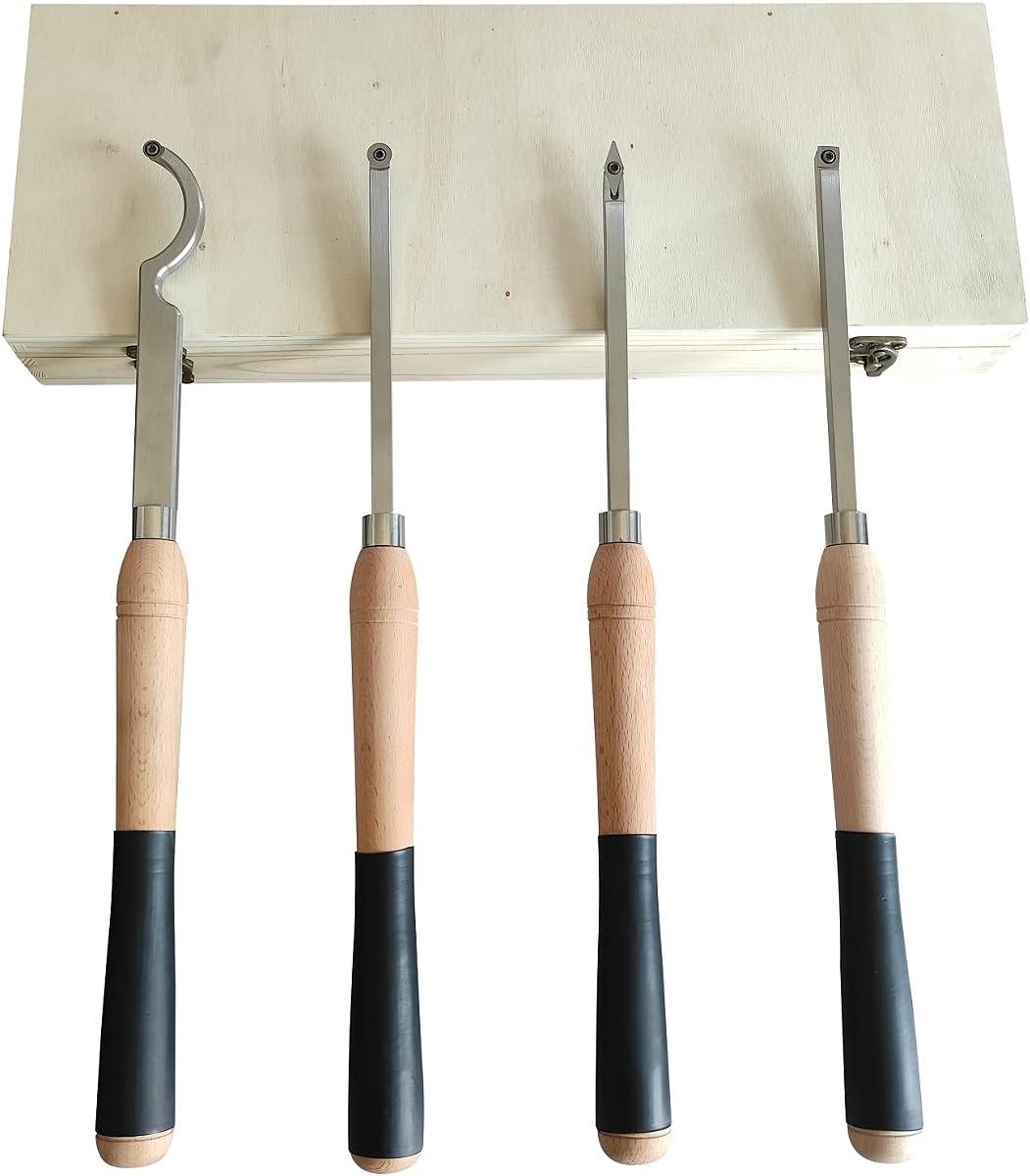 Carbide Woodturning Tool, 4 Piece Lathe Turning Tool