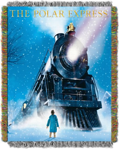 "Polar Express, Engine Wonder Woven Tapestry Throw, 48"" x 60"""