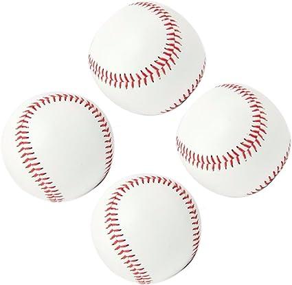 Smartlife15 Juego De 4 Pelotas De Béisbol De Práctica De Seguridad De Impacto Reducido De 9 Pulgadas Para Adultos Y Jóvenes Cubiertas De Cuero Pelotas Blandas Para Competición De Juego