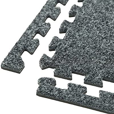 IncStores Premium Soft Carpet Foam Tiles 2ft x 2ft Interlocking Home & Trade Show Flooring Foam Mats Including 2 Edge Pieces
