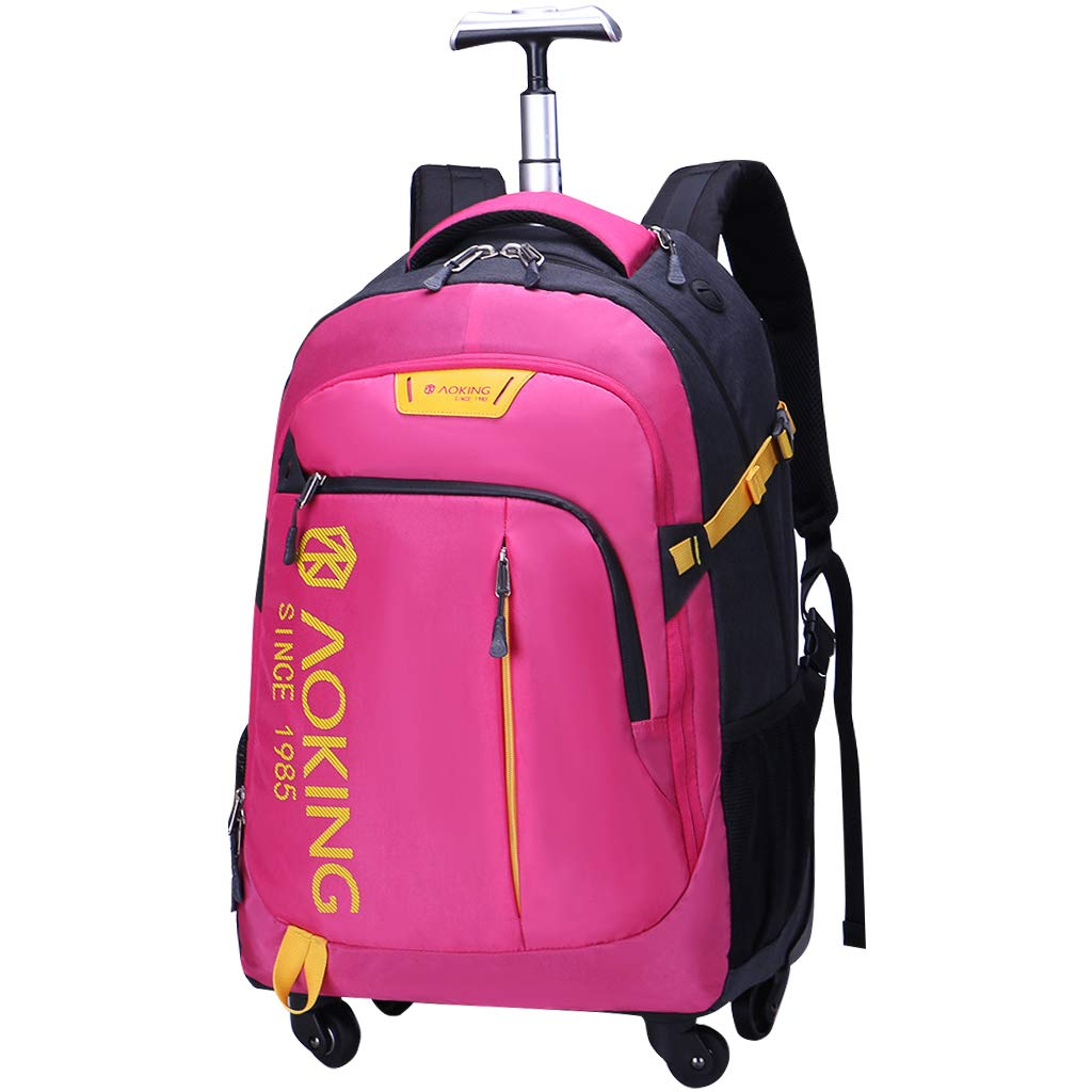 Amazon.com | Trolley Backpack Women Computer Bag Rolling Schoolbag Luggage Men Business Bag | Kids Backpacks